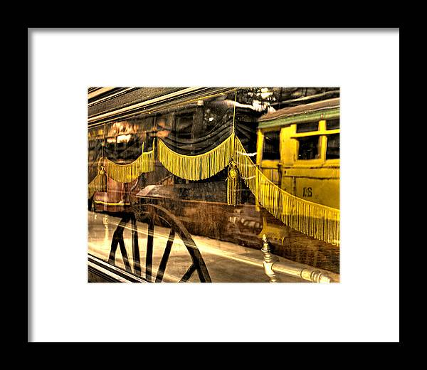 Train Framed Print featuring the photograph Reflections Of Death by Scott Wyatt