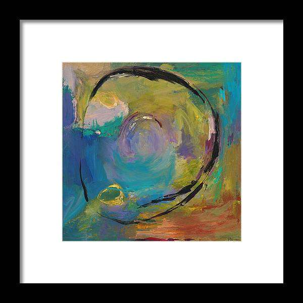 Abstract Framed Print featuring the painting Reflections Of Earlier Days by Johnathan Harris