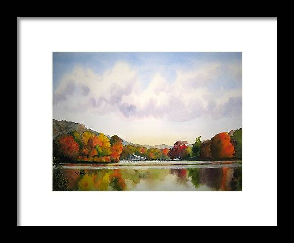 Fall Framed Print featuring the painting Reflections Of Fall by Shirley Braithwaite Hunt
