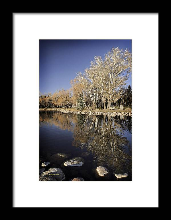 Henderson Lake Framed Print featuring the photograph Reflections Of Henderson by Tom Buchanan