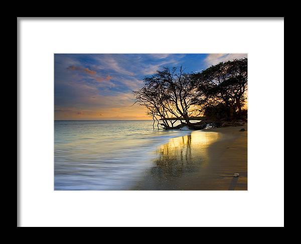 Waves Framed Print featuring the photograph Reflections Of Paradise by Mike Dawson