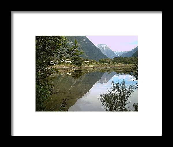Reflections Of The Mountings Framed Print featuring the photograph Reflections of the Mountings by Joyce Woodhouse