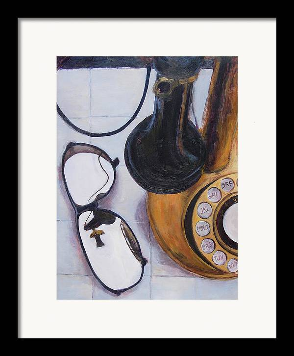 Acrylic Framed Print featuring the painting Reflections Of The Past by Chris Neil Smith