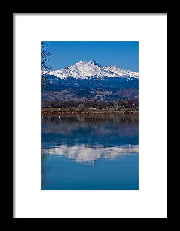 Twin Peaks Framed Print featuring the photograph Reflections Of The Twin Peaks by James BO Insogna