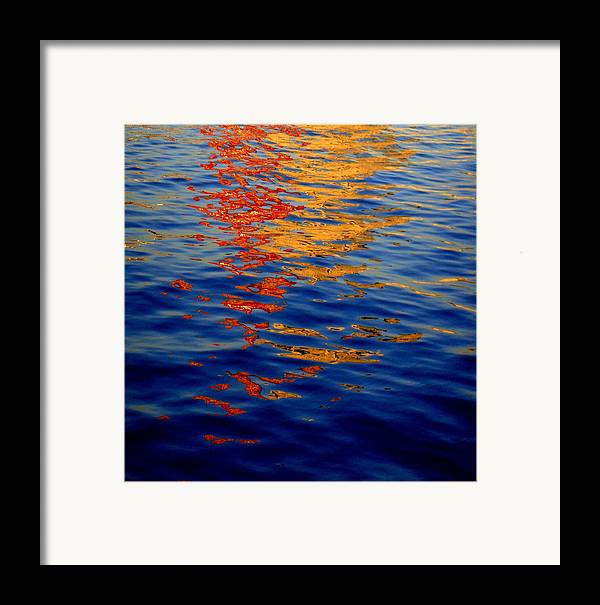 Waterscape Framed Print featuring the photograph Reflections On Kobe by Roberto Alamino