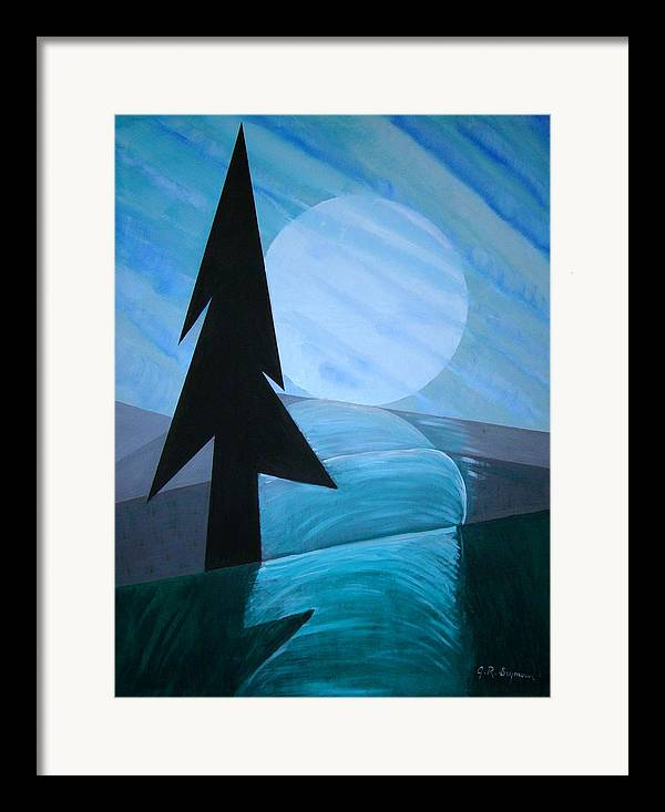Phases Of The Moon Framed Print featuring the painting Reflections On The Day by J R Seymour