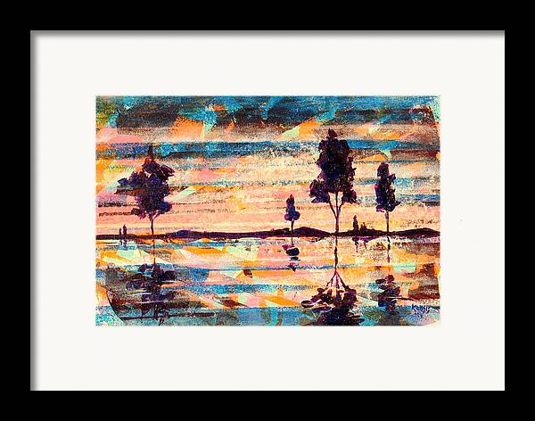 Water Framed Print featuring the painting Reflections by Rollin Kocsis