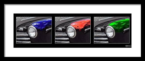 Car Framed Print featuring the photograph Reflections by Sharon Cross