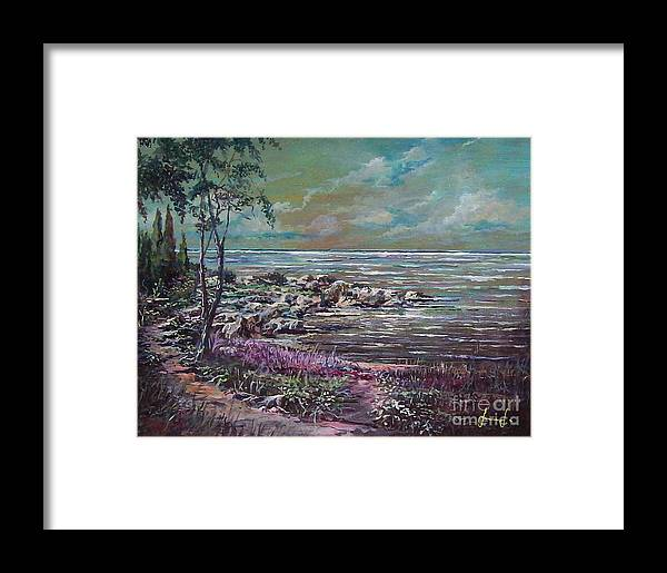 Nature Framed Print featuring the painting Reflections by Sinisa Saratlic
