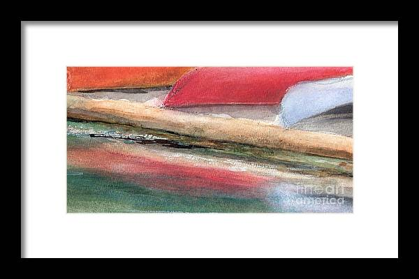 Boats Framed Print featuring the painting Reflections by Vivian Mosley