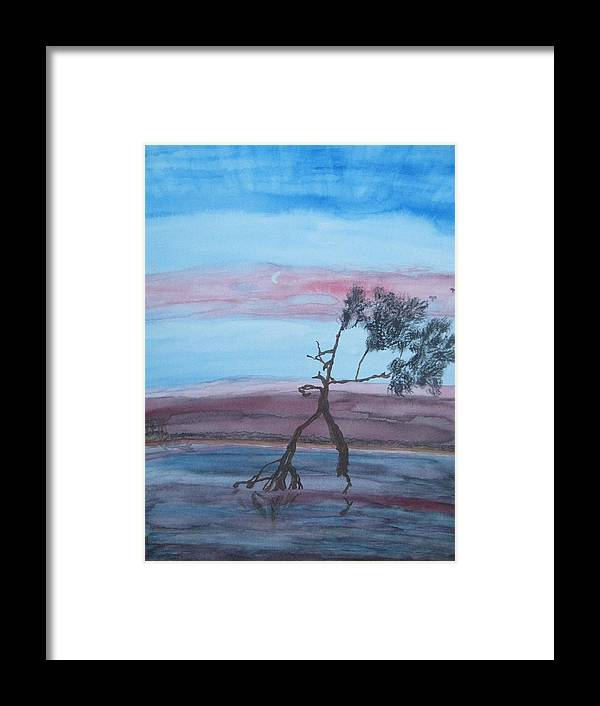 Landscape Acrylic Water Tree Framed Print featuring the painting Reflections by Warren Thompson