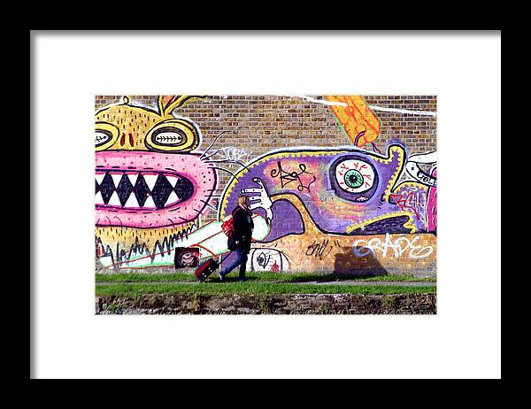 Jez C Self Framed Print featuring the photograph Reflective Canal 10 by Jez C Self