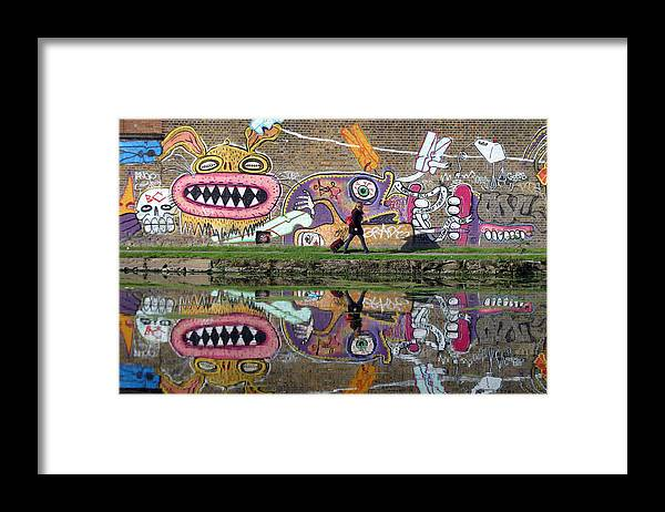 Jez C Self Framed Print featuring the photograph Reflective Canal 11 by Jez C Self
