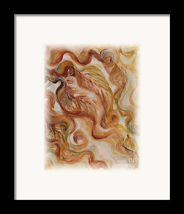 Leaves Framed Print featuring the painting Reflective Leaves by Nadine Rippelmeyer