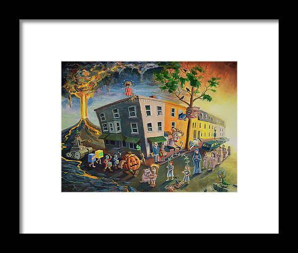 Surrealism Framed Print featuring the painting Reformation by Michael Stancato
