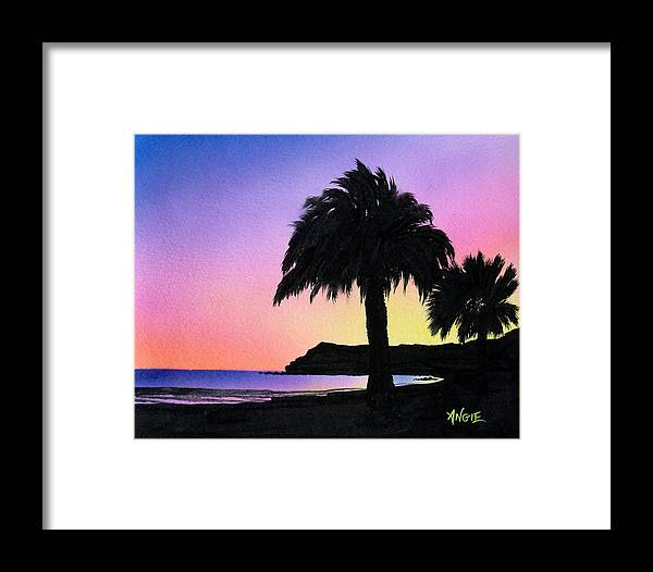 Beach Framed Print featuring the painting Refugio Point 1 by Angie Hamlin