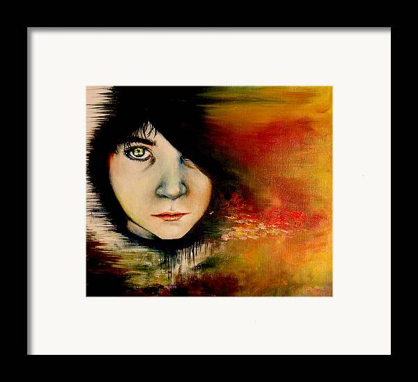 Sunset Framed Print featuring the painting Regaining Strenght by Freja Friborg
