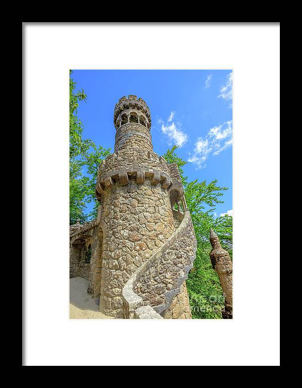 Sintra Framed Print featuring the photograph Regaleira Tower Sintra by Benny Marty