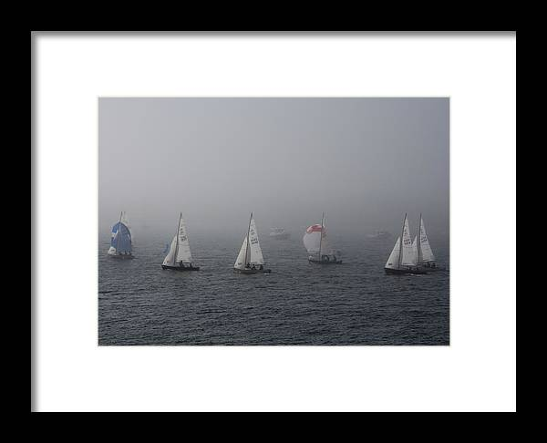 Boat Framed Print featuring the photograph Regatta by Steven Natanson