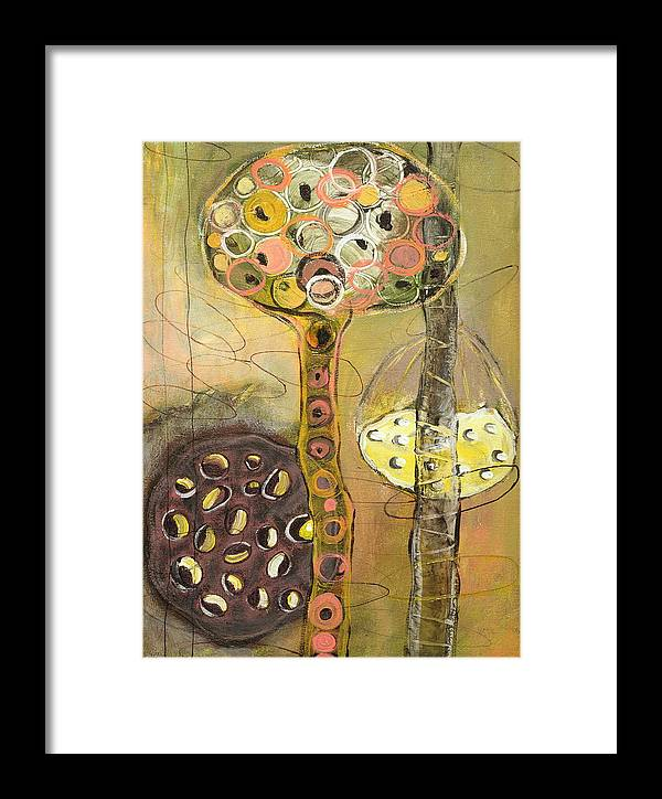 Orgnaic Framed Print featuring the painting Regenerate by Angela Dickerson