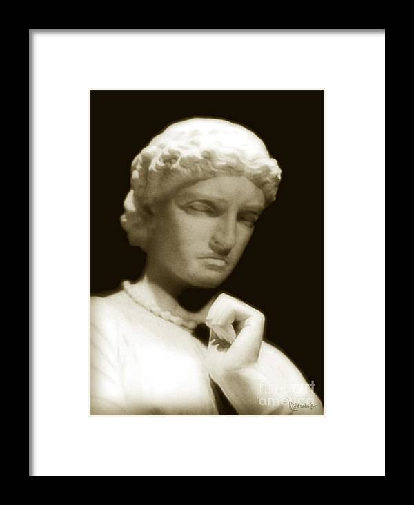 Woman Framed Print featuring the photograph Regret by RC DeWinter