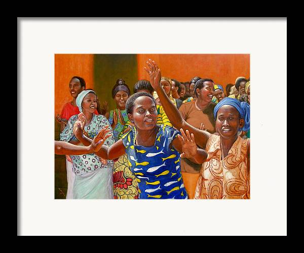 Realism Framed Print featuring the painting Rejoice by Donelli DiMaria