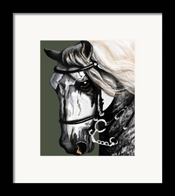 Horses Framed Print featuring the painting Relampago Lx by Kim Souza