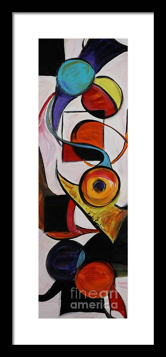Shapes Framed Print featuring the painting Relationships by Nadine Rippelmeyer