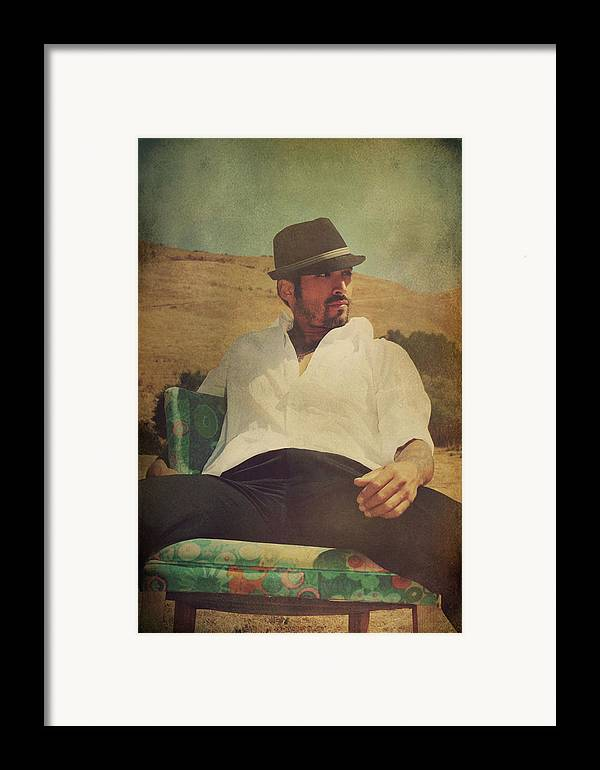 Man Framed Print featuring the photograph Relax And Stay A While by Laurie Search