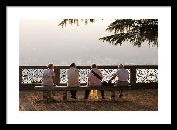 Italy Framed Print featuring the photograph Relax by Luigi Barbano BARBANO LLC