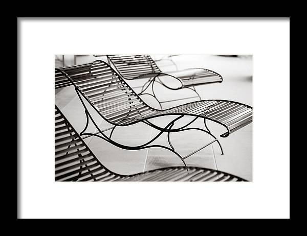 Chair Framed Print featuring the photograph Relaxation by Marilyn Hunt