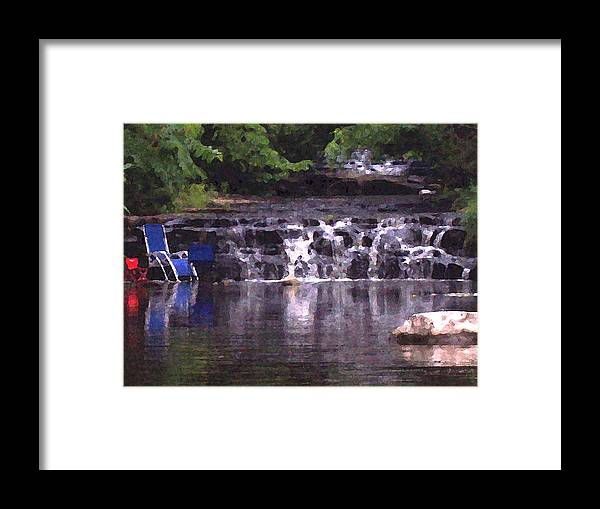 Landscape Framed Print featuring the photograph Relaxing in the creek by Lisa Kane