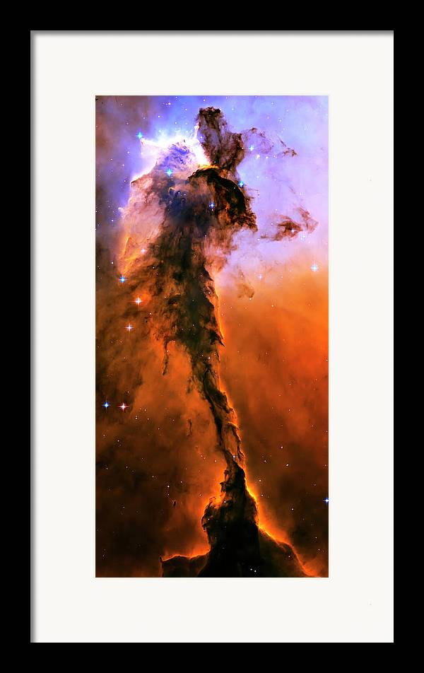 Outer Space Framed Print featuring the photograph Release - Eagle Nebula 1 by Jennifer Rondinelli Reilly - Fine Art Photography