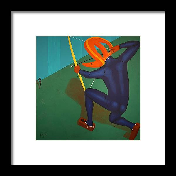 Surreal Framed Print featuring the painting Relic Hunting Unsuspecting Wild Spatula by Rudy Pavlina