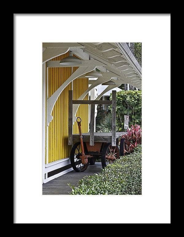 Old Baggage Handler Framed Print featuring the photograph Remember Railway Express by Mark Coran