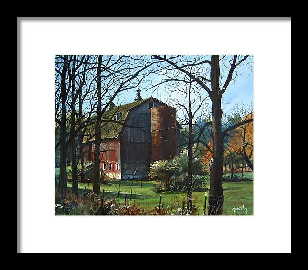 Landscape Framed Print featuring the painting Remember When by William Brody