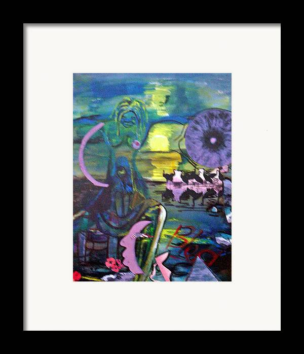 Water Framed Print featuring the painting Remembering 9-11 by Peggy Blood