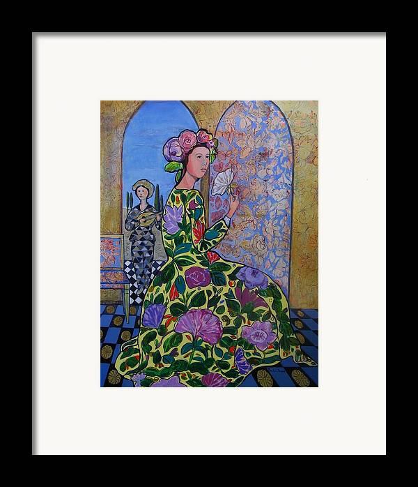 Remembering The Flower Door Framed Print featuring the painting Remembering The Flower Door by Marilene Sawaf