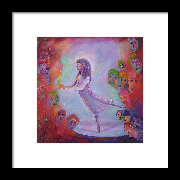 Child Remembering Framed Print featuring the painting Remembering The Nutcracker by Naomi Gerrard