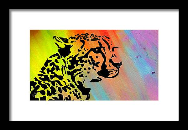 Animal Framed Print featuring the painting Reminiscence by Romeo Kyeremateng
