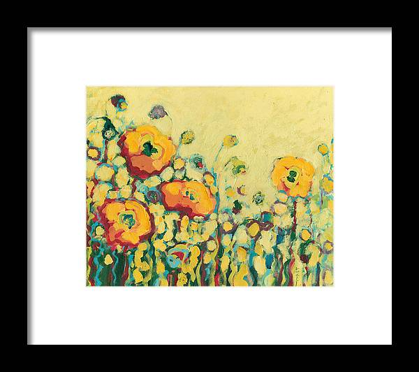 Floral Framed Print featuring the painting Reminiscing on a Summer Day by Jennifer Lommers