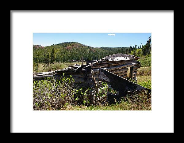 Ghost Towns Framed Print featuring the photograph Remnants Of Caribou by Cynthia Cox Cottam