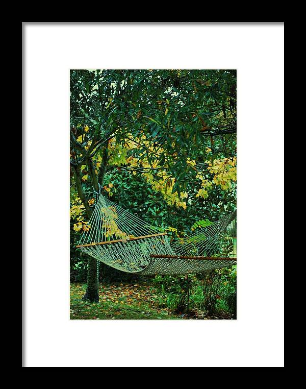Hammock Framed Print featuring the photograph Remnants Of Summer by Trudi Southerland