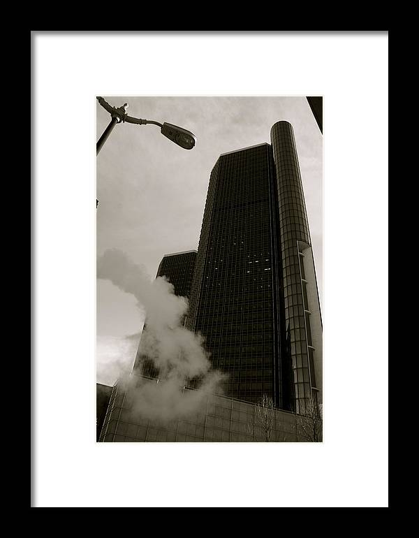 Detroit Framed Print featuring the photograph Renaissance Center by Sonja Anderson