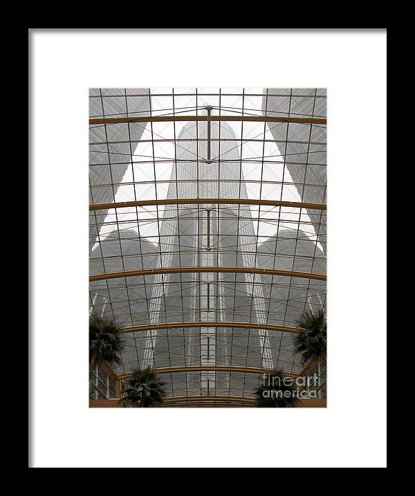 Detroit Framed Print featuring the photograph Rencen From Within by Ann Horn