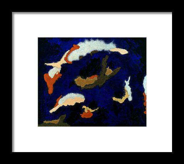 Abstract Framed Print featuring the painting Rencontre De Sables by Dominique Boutaud