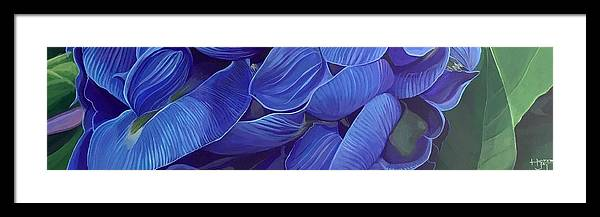 Botanical Framed Print featuring the painting Render Love by Hunter Jay
