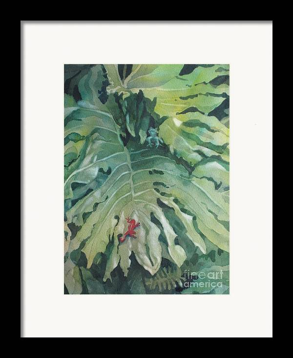 Frogs Framed Print featuring the painting Rendezvous by Elizabeth Carr