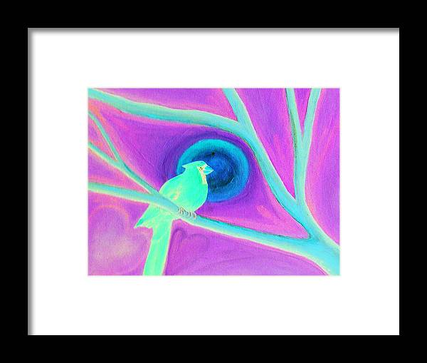 Cardinal Framed Print featuring the painting Renewal by Michele Rose