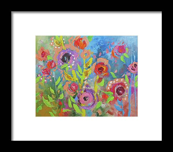 Original Framed Print featuring the painting Renewal by Linda Monfort